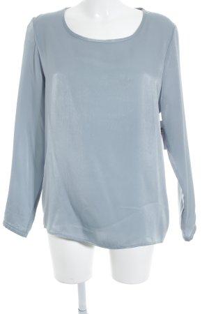Suzanna Glanzende blouse lichtblauw zakelijke stijl