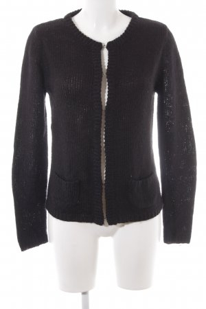 Suzanna Cardigan all'uncinetto nero stile professionale