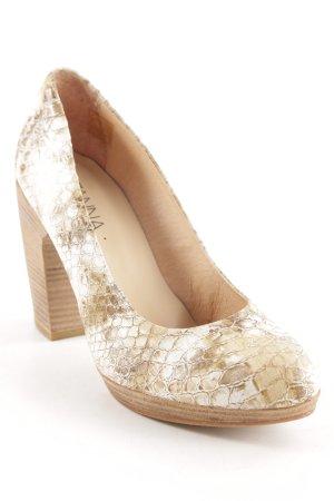 Suzanna High Heels weiß-beige Animalmuster