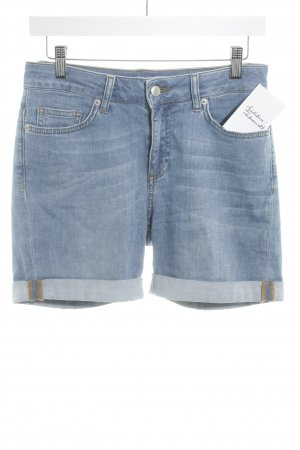 Suzanna Jeansshorts himmelblau-wollweiß meliert Casual-Look