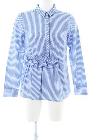 Suzanna Langarm-Bluse blau-weiß Streifenmuster Business-Look
