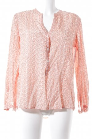 Suzanna Langarm-Bluse apricot-weiß abstraktes Muster Casual-Look