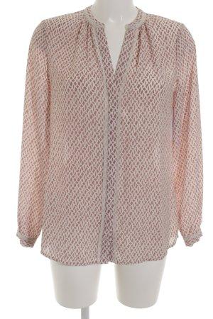 Suzanna Langarm-Bluse roségoldfarben-weiß Business-Look