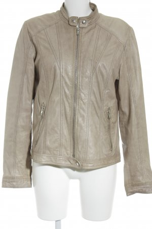 Suzanna Lederjacke beige Country-Look