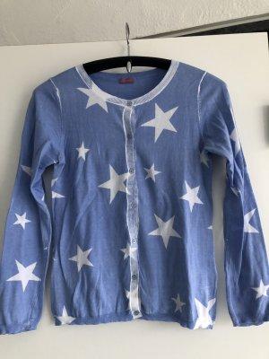 Suzanna neu Strickjacke hellblau mit Sternen