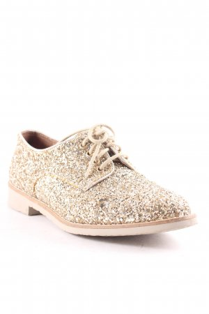 Suzanna Zapatilla brogue marrón arena-color oro elegante