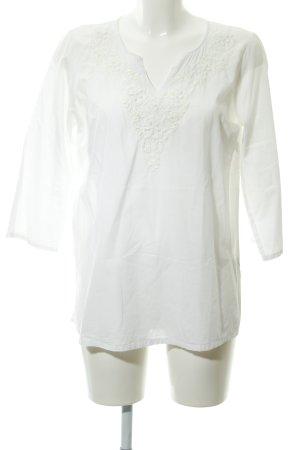 Suzanna Shirt Tunic white flower pattern beach look