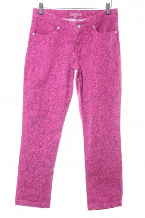 Suzanna Skinny Jeans violett-pink Paisleymuster Casual-Look