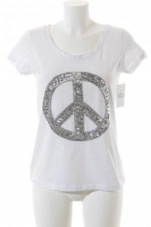 Suzanna T-Shirt weiß Hippie-Look