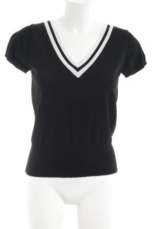 Suzanna T-Shirt weiß-schwarz Streifenmuster Casual-Look