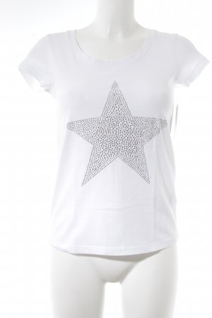 Suzanna T-Shirt weiß Sternenmuster Casual-Look