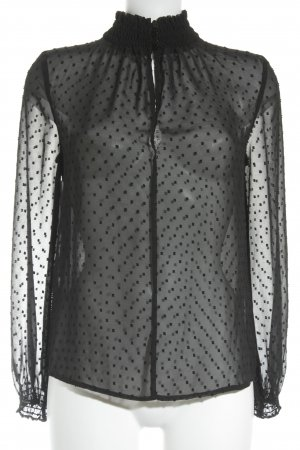 Suzanna Transparenz-Bluse schwarz Elegant