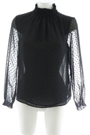 Suzanna Transparenz-Bluse schwarz klassischer Stil