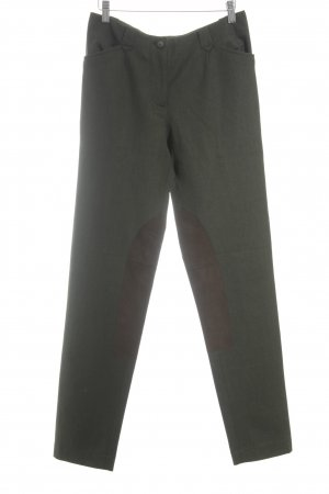 Suzanne von Dörnberg Woolen Trousers dark green-brown rider style