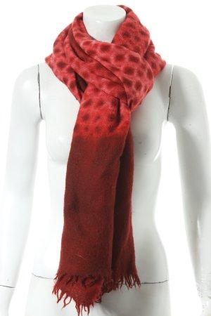 Suzusan Scarf dark red-bright red classic style