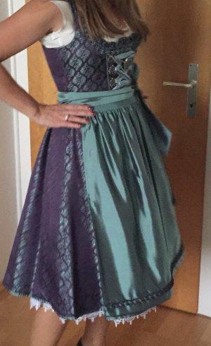 Vestido Dirndl multicolor tejido mezclado