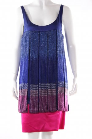 SW silk dress blue-pink