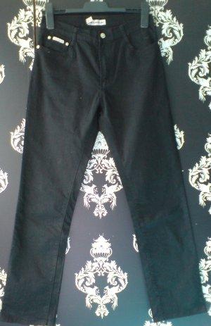 Swallow Jeans High-Waist-Hose, beinnaher Schnitt, Farbe: Schwarz, Größe: M