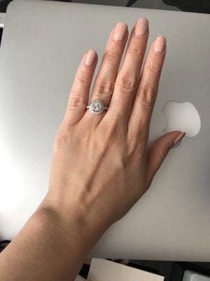 swarovsi Round Ring silber rhodiniert