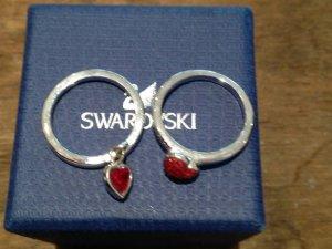 Swarovski - 2 Ringe, silber mit Herzen - wie neu in Originalverpackung