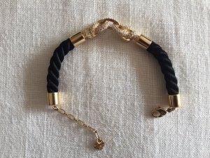 Swarovski Bracelet black-gold-colored