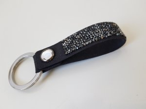 Swarovski Key Chain black-silver-colored