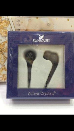 Swarovski ,Active Crystals Earphones Silver Night