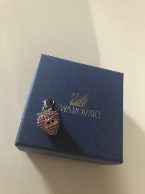 Swarovski Anhänger Charm Kette Erdbeere Silber neu