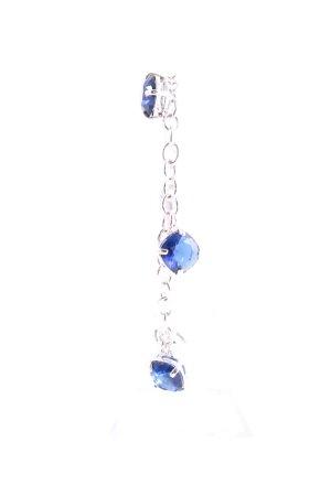 Swarovski Bracelet argenté-bleu style décontracté