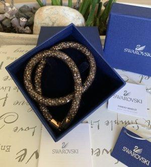 Swarovski Armband donkerbruin-goud