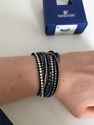 Swarovski Bracelet black-silver-colored