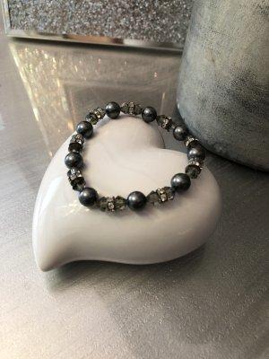 Swarovski Armband graue Perlen