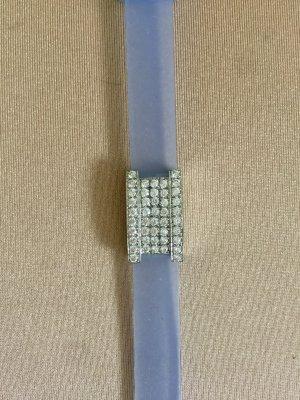 Swarovski Armband hellblau, versilbert mit vielen Steinen