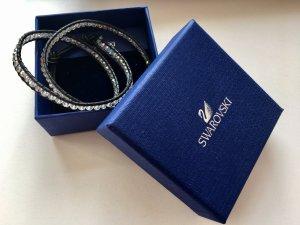 Swarovski Armband mit schwarzem Leder