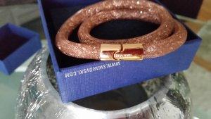 Swarovski Armband stoffig roze