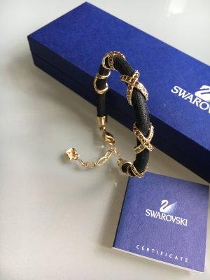Swarovski Armband schwarz gold