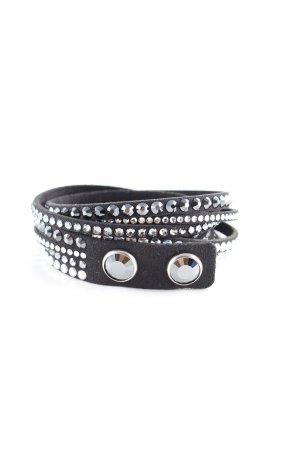 Swarovski Armband schwarz-silberfarben Elegant