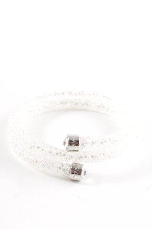 Swarovski Armreif weiß-silberfarben Elegant
