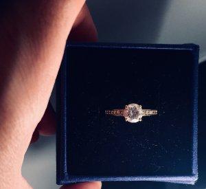 Swarovski Gold Ring multicolored metal