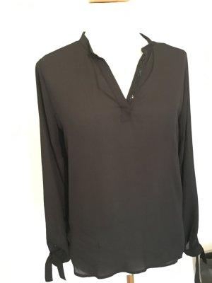 Swarovski Bluse / hinten mit Jersey