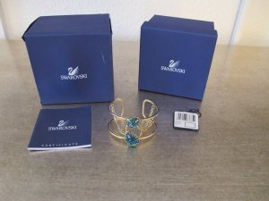 Swarovski Born Armreif Armband Bracelet Türkis Blau NEUw