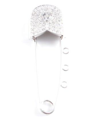 Swarovski Spilla argento con glitter