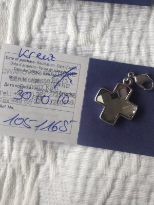 Swarovski Charm Kreuz mit Zertifikat