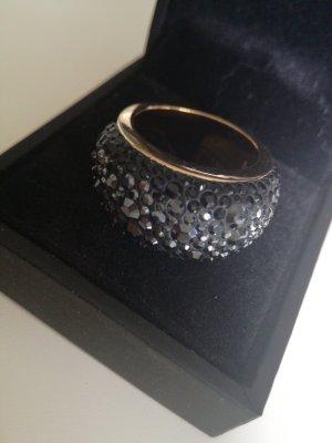 Swarovski Statement ring zwart-goud