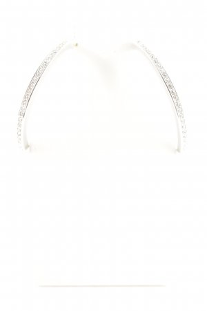 Swarovski Ear Hoops silver-colored elegant