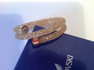 Swarovski crystal bangle, goldfarben