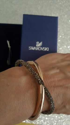 Swarovski Bangle rose-gold-coloured-grey brown metal