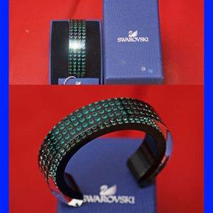 Swarovski Damen Kristall Armband Schwarz/ Grün OVP