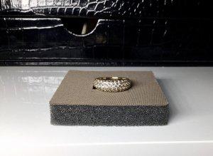 Swarovski Silver Ring gold-colored