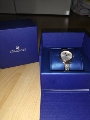 Swarovski Watch With Metal Strap silver-colored-rose-gold-coloured